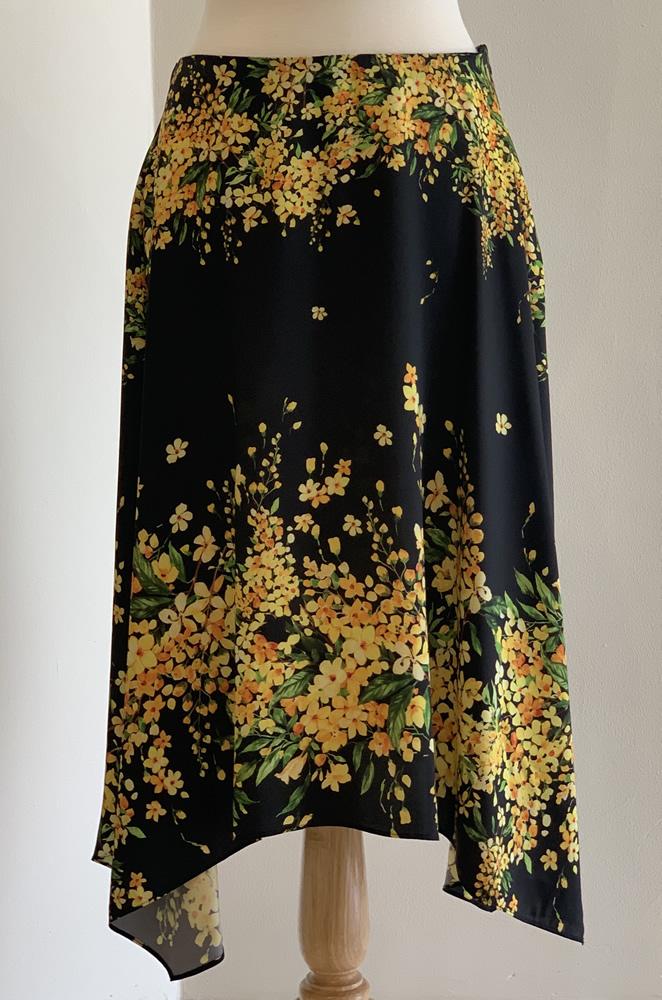 yellow flower skirt