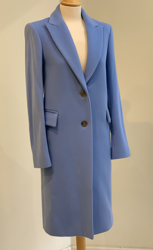 Blue wool coat