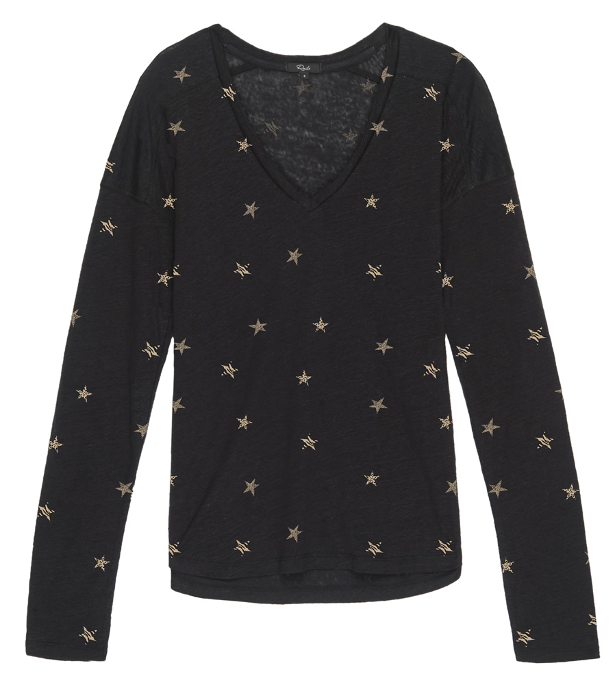 Sami leopard star top