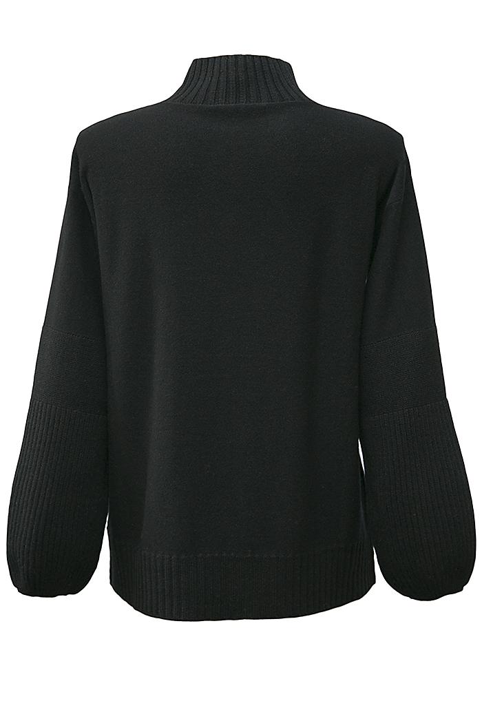 Black funnel neck jumper
