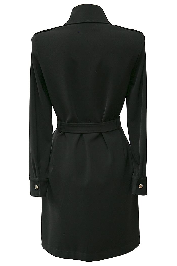 Black biker dress