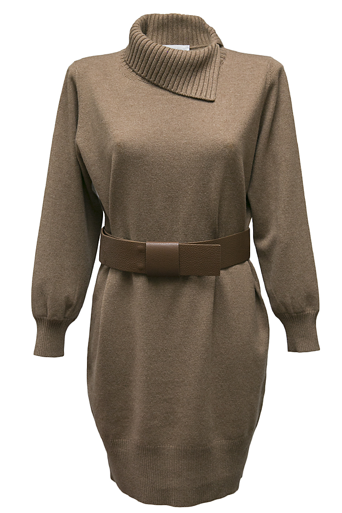 Chestnut knitted dress