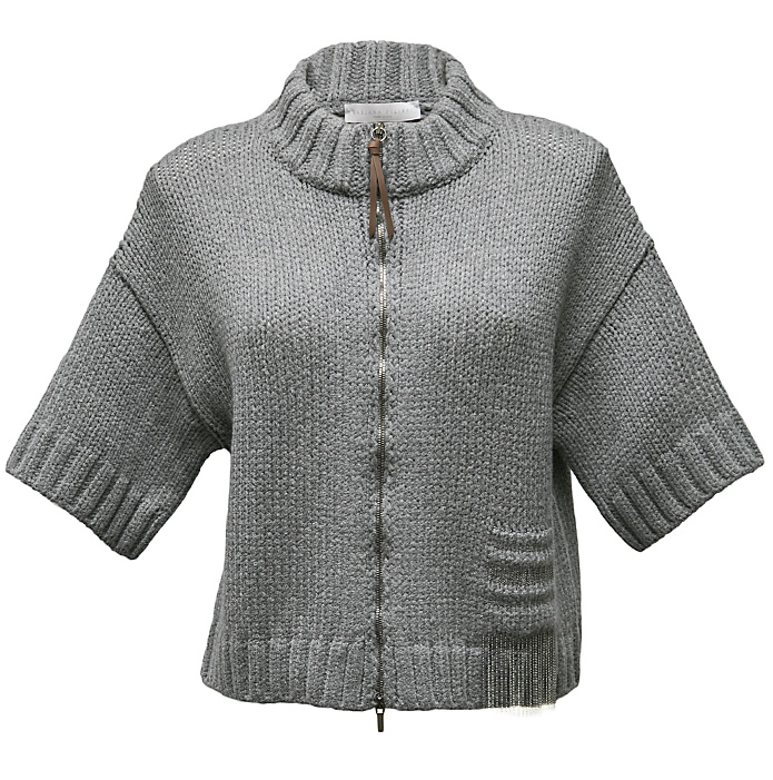 Grey cropped cardigan