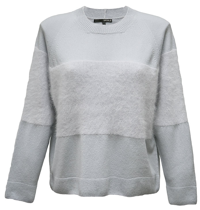 Grey boxy jumper