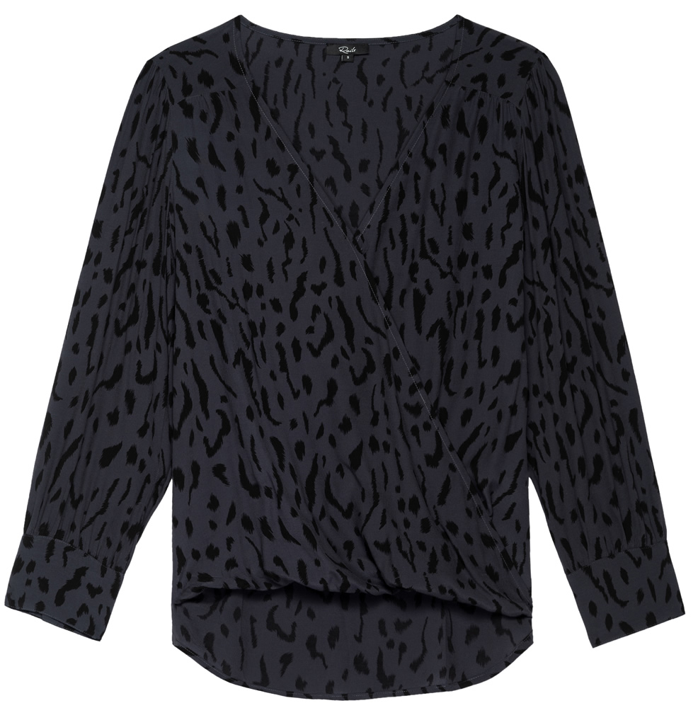 Ash cheetah hilary blouse