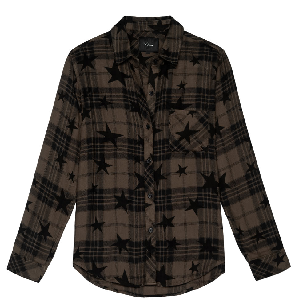 Hunter olive stars shirt