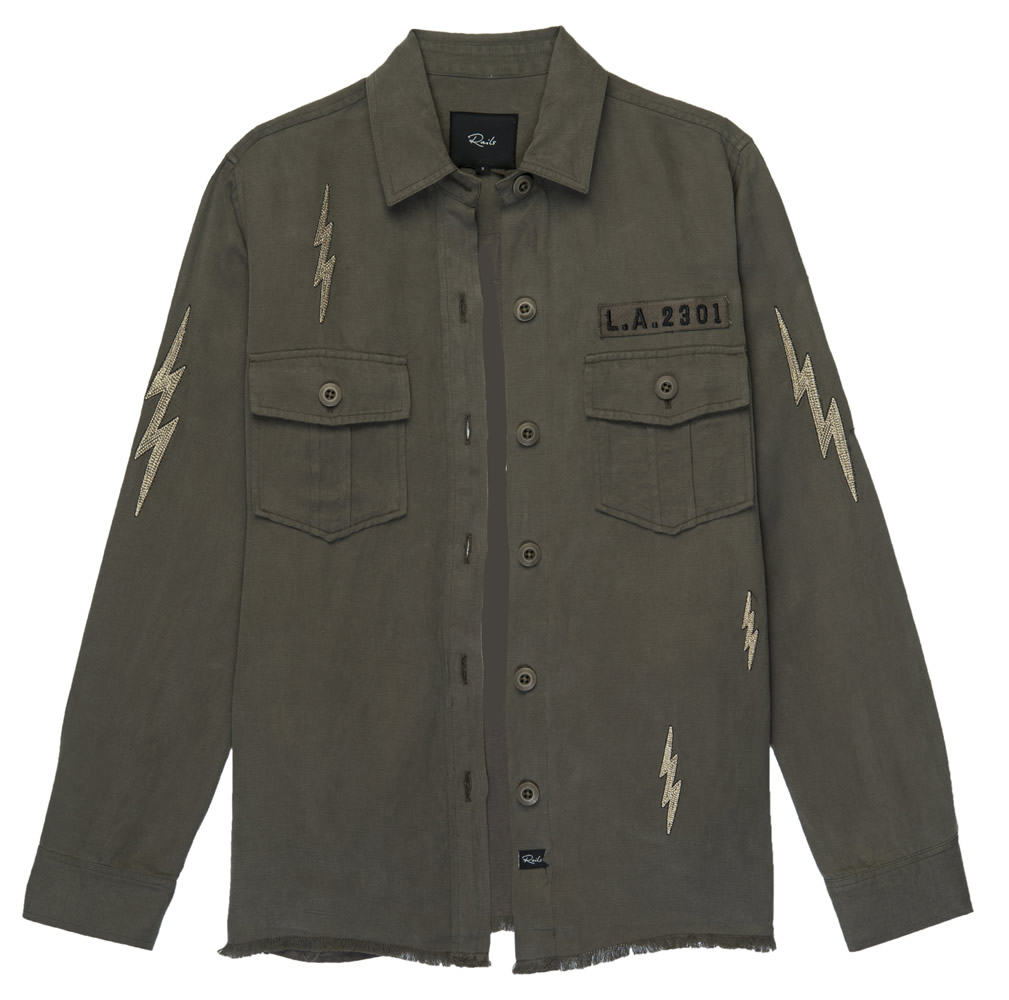 Loren khaki lightening shirt