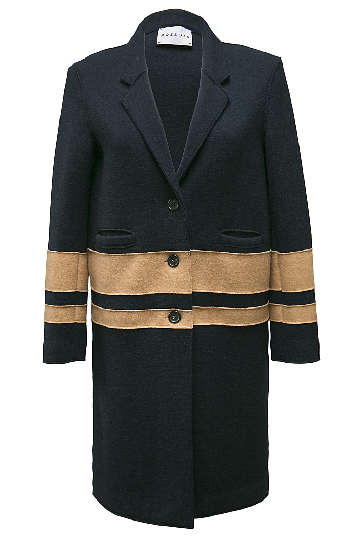 Navy knitted coat