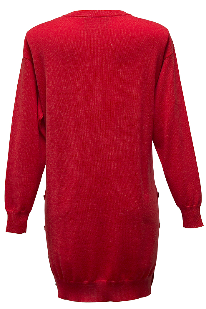 Red knitted tunic