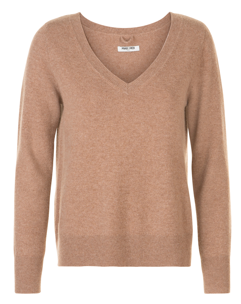 Palani brown V-neck jumper