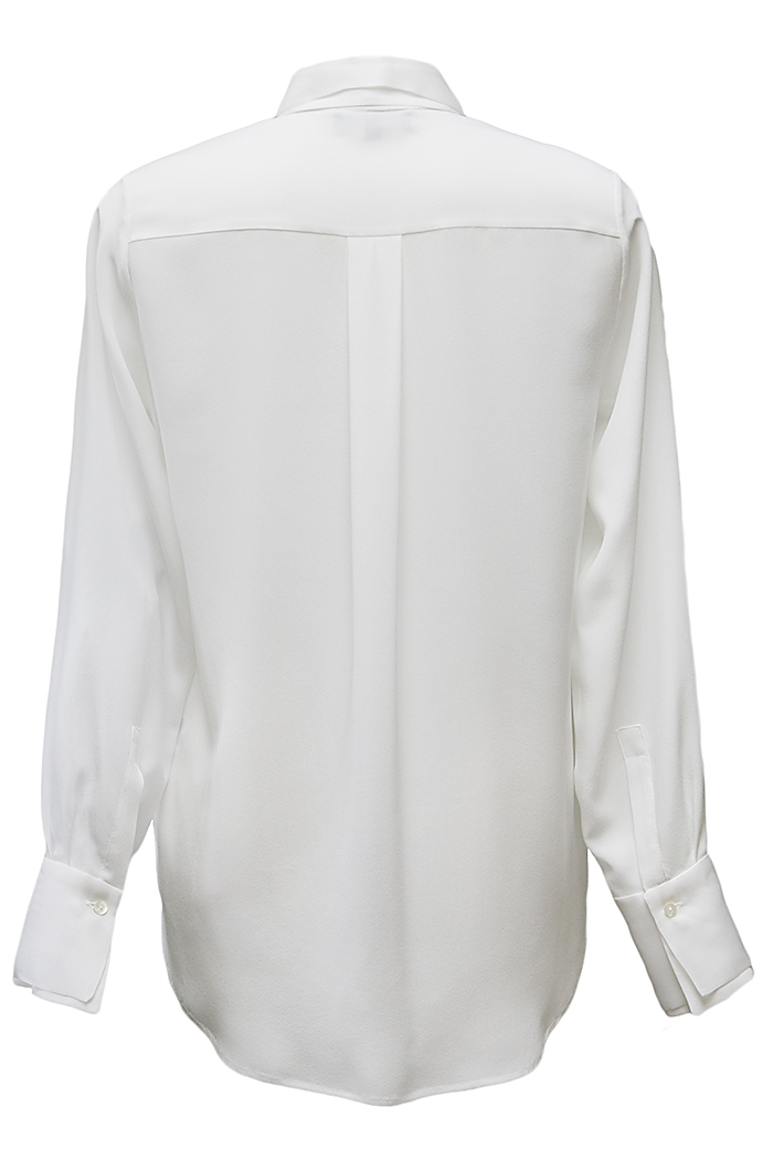 Ivory pleated front shirt