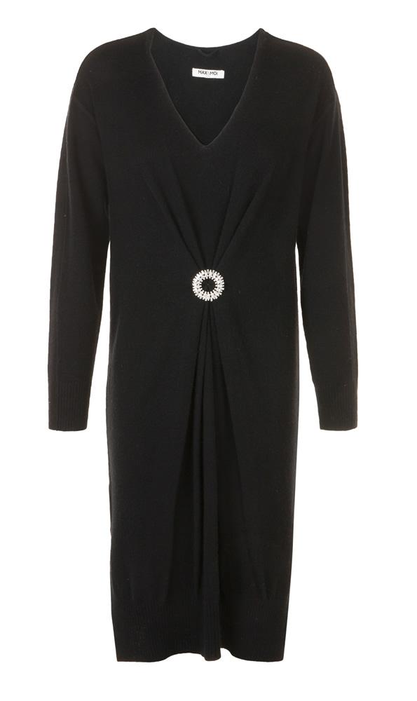Ryan black knitted dress