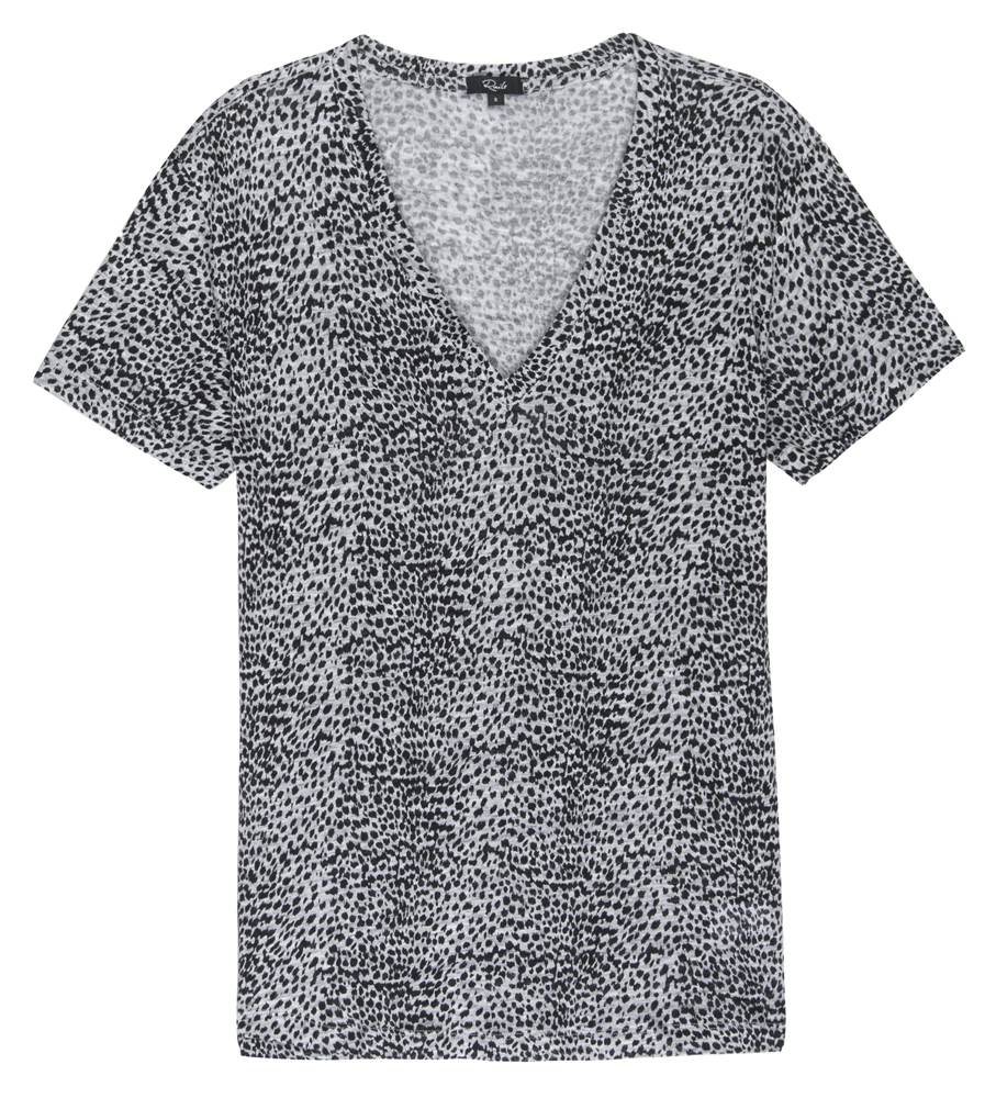 Cara grey leopard T-shirt