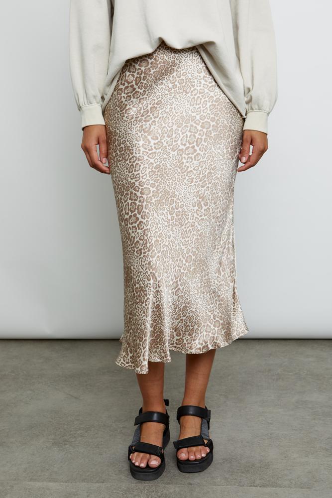 Anya tan cheetah skirt