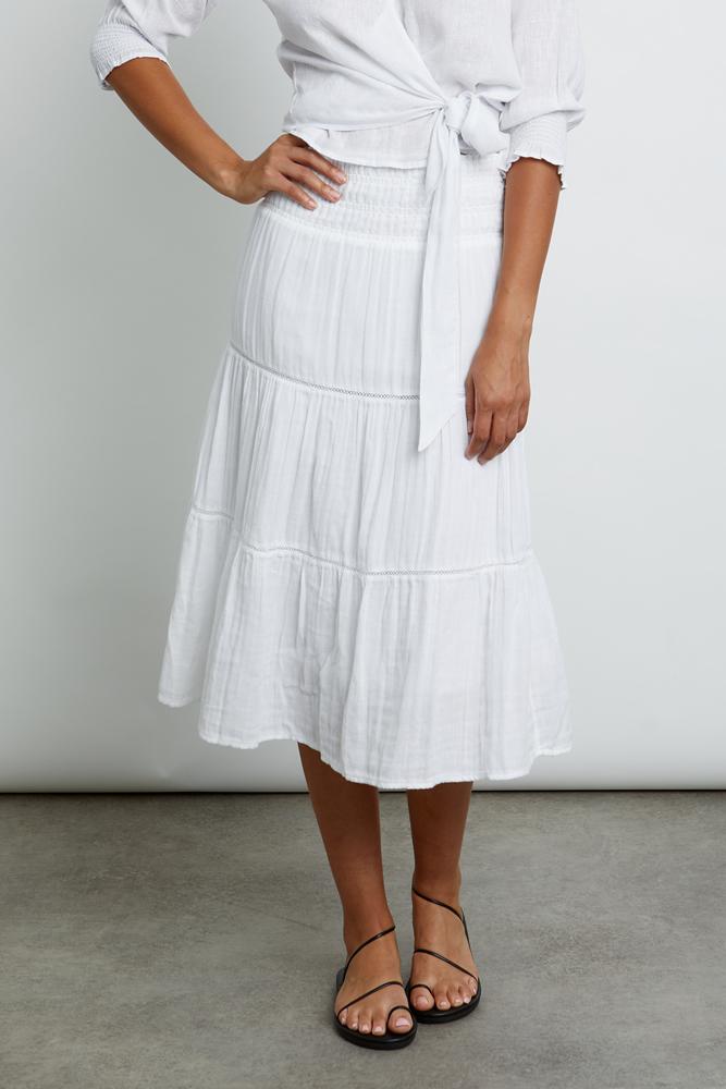 Edina white skirt