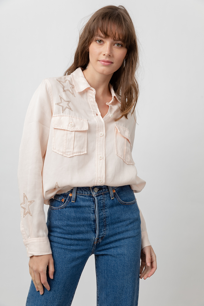 Loren blush star shirt