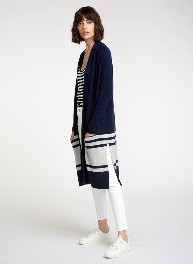Navy coatigan