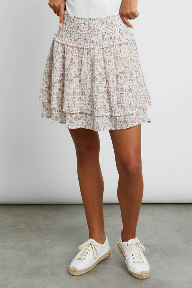 Addison floral skirt