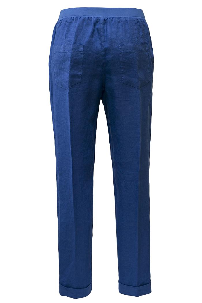 Cobalt blue linen trousers