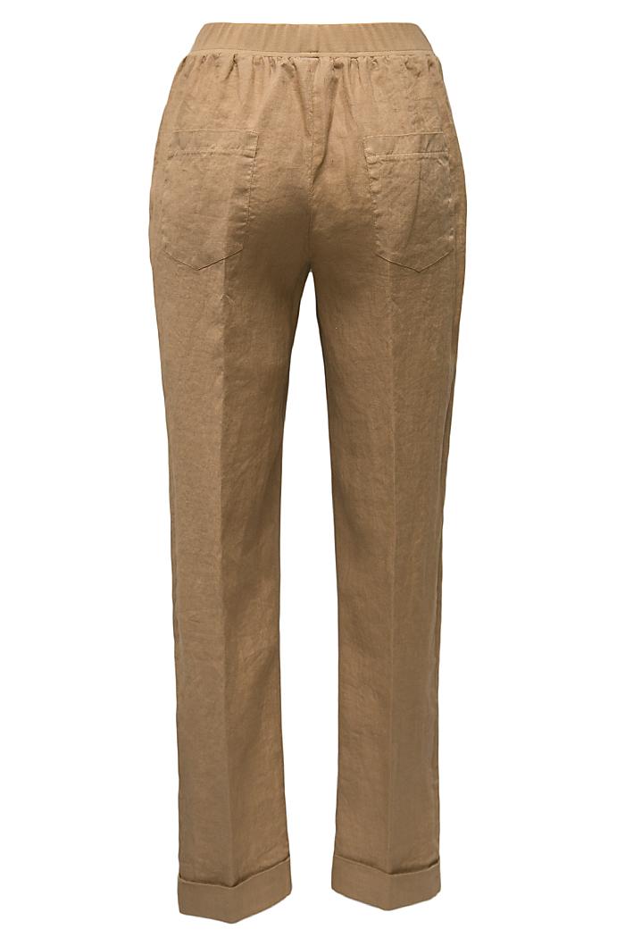 Caramel linen trousers