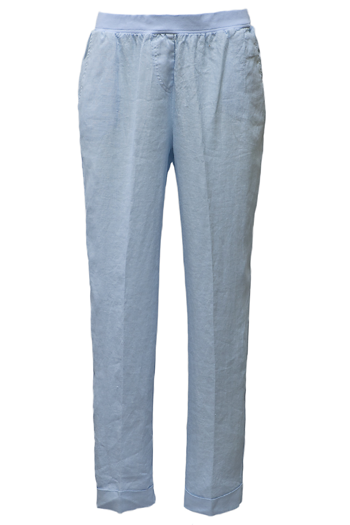 Baby blue linen trousers