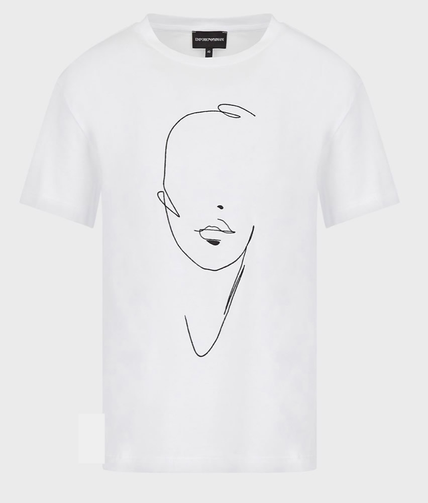 Sketched face T-shirt