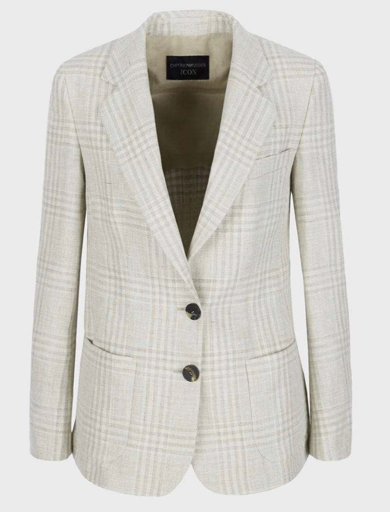 Linen checked jacket