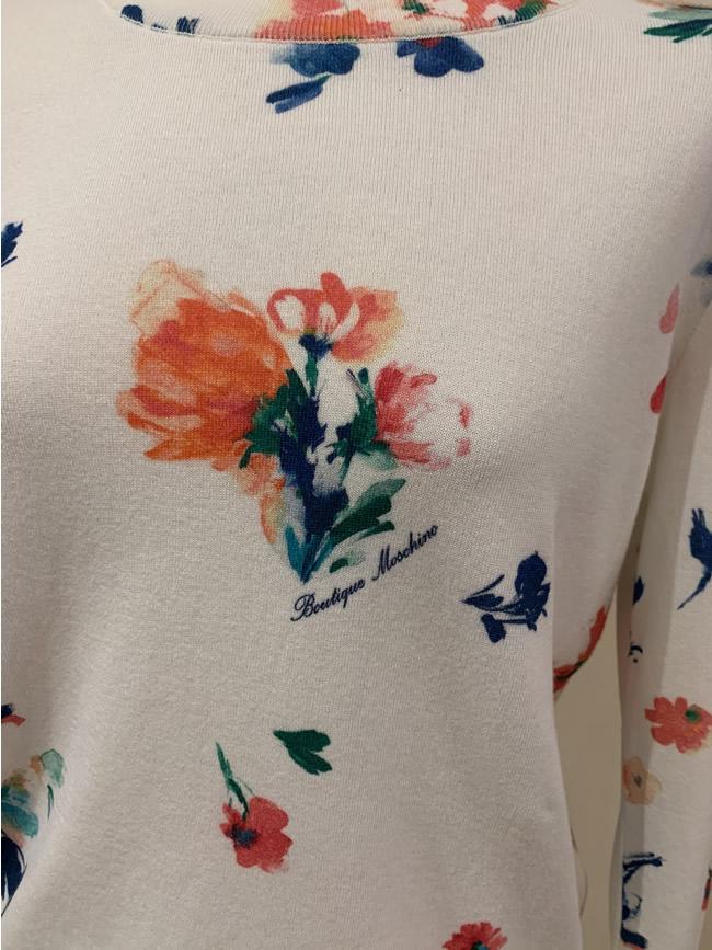 Cream floral jumper