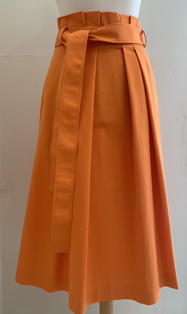 Orange cotton skirt