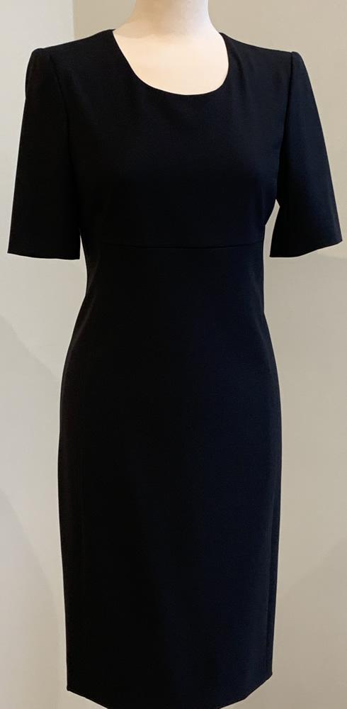 Black short sleeved dress