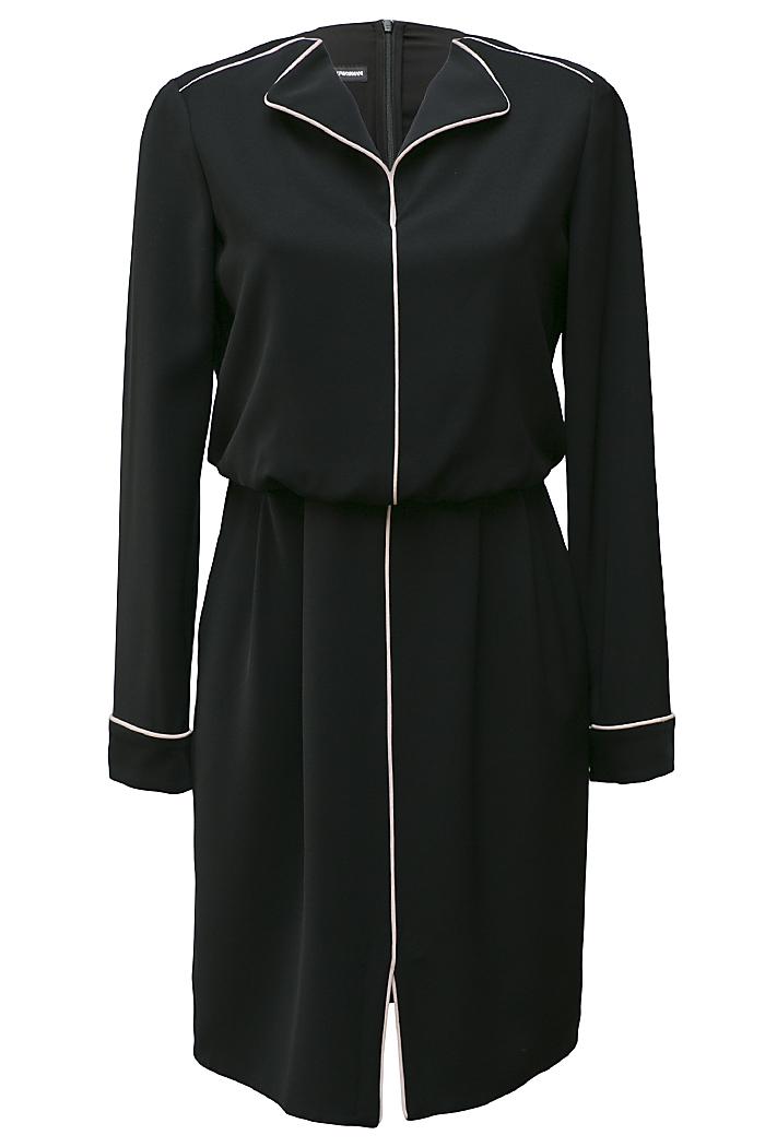 Black nude piping dress