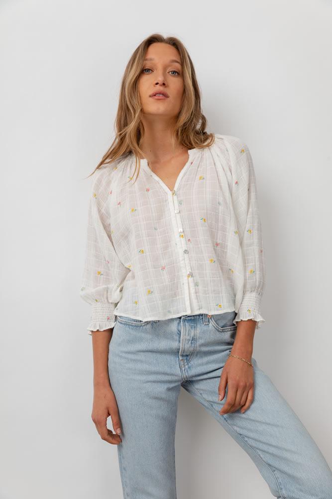 Mariah mini buds blouse