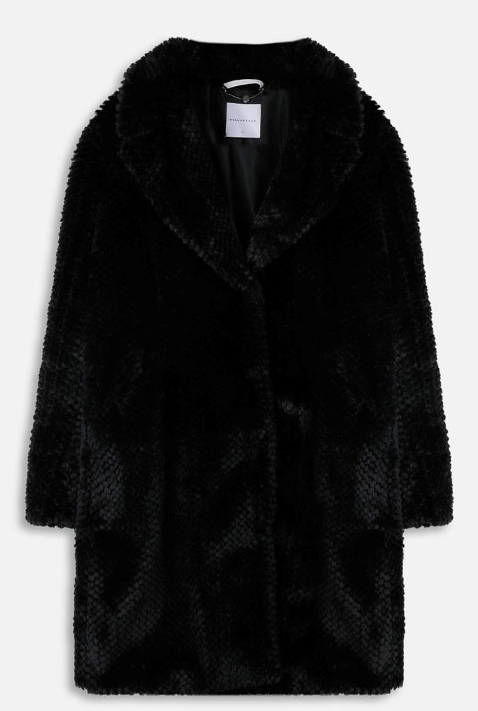 Alenka black faux fur
