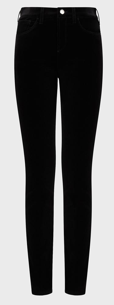 J20 black velvet jeans